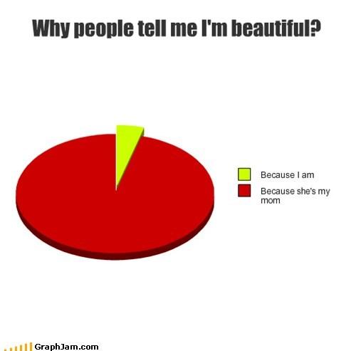 beauty,mom,parents,Pie Chart