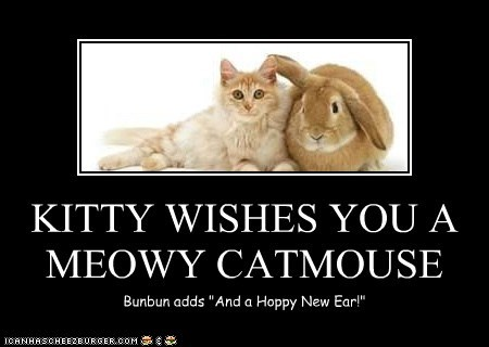 KITTY WISHES YOU A MEOWY CATMOUSE