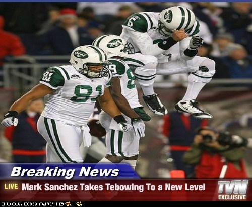 Breaking News - Mark Sanchez Takes Tebowing To a New Level