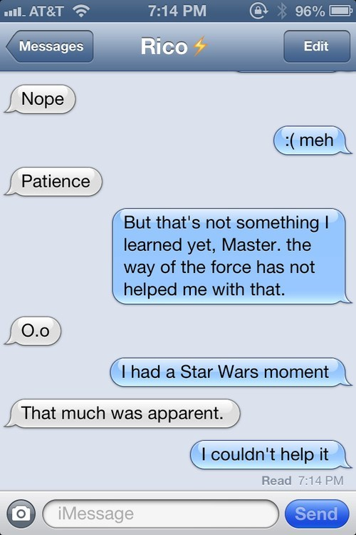 star wars,the force,iPhones,not amused