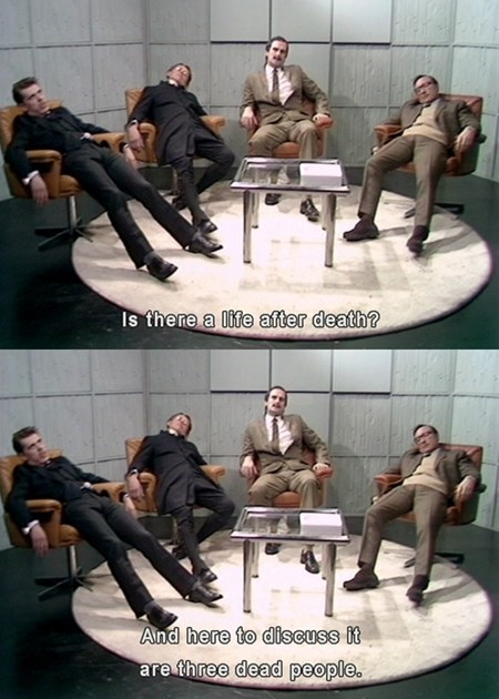 Dead People,crickets,monty python,TV,interview