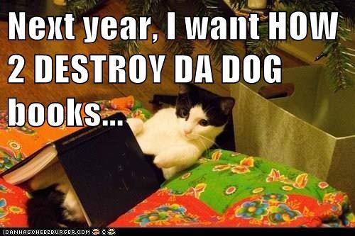 Next year, I want HOW 2 DESTROY DA DOG books...