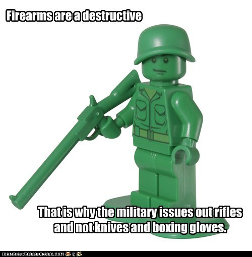 Firearms are a destructive