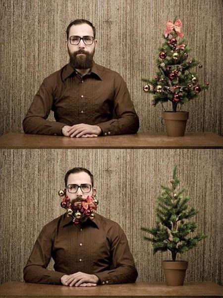 beard,christmas tree,decorations