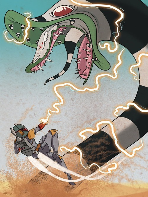 Boba Fett Vs. the Sandworm