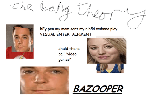 bazinga,the big bang theory,sheldon,video games,bazooper