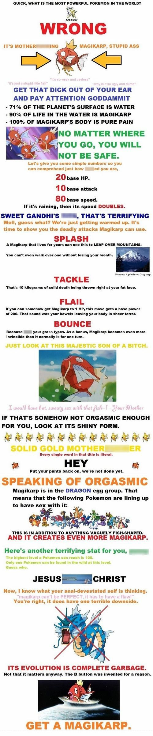 Magikarp Salesman is Doing You a Favor