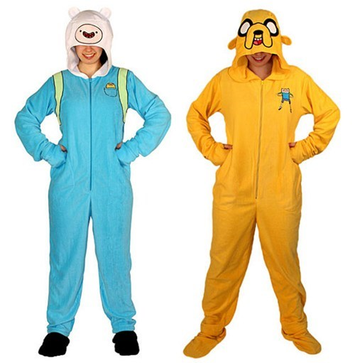 Jake,footies,pajamas,finn,hoods,adventure time