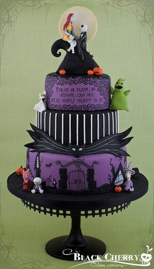 cake,the nightmare before christmas,fondant