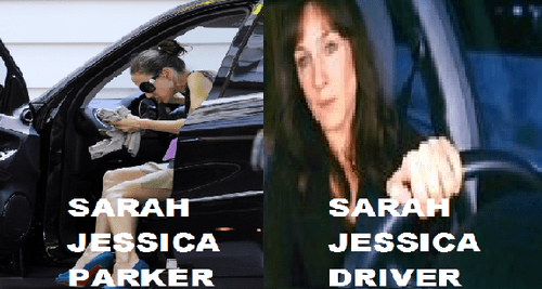 sarah jessica parker,surname,driving,driver,Before And After,opposites,parking
