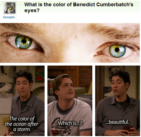 What Color are Benedict Cumberbatch's Eyes?