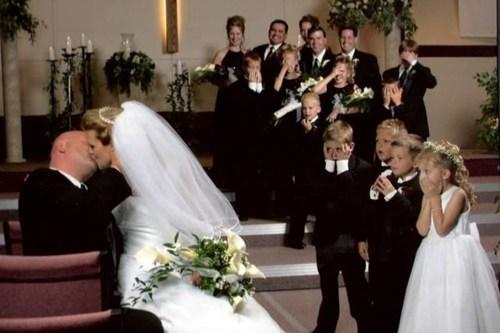 wedding party,kids,gross,KISS