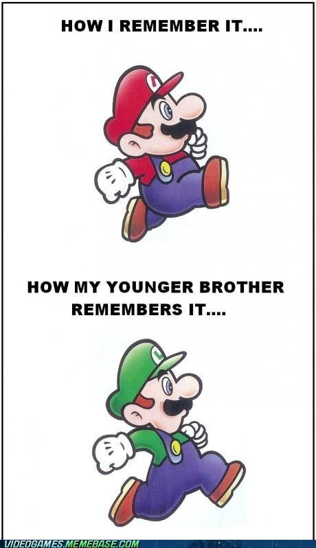 Younger Brother Plays the Taller Brother