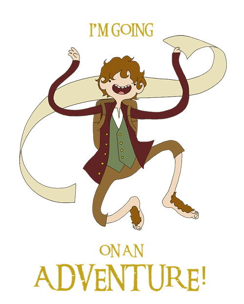crossover,movies,fan art,The Hobbit,cartoons,adventure time