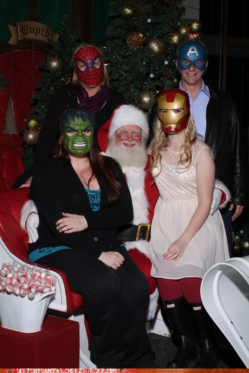 christmas,The Avengers,santa,funny,holidays,g rated,sketchy santas