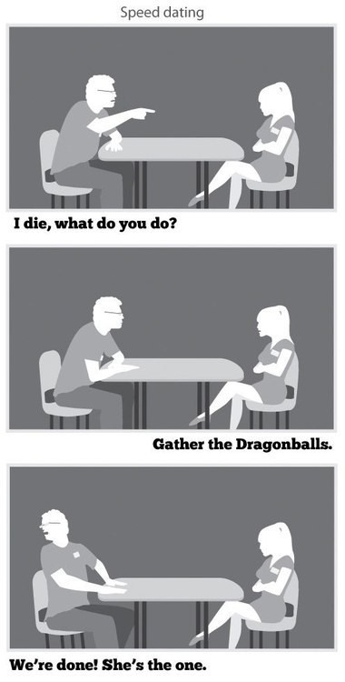 speed dating,Dragon Ball Z,relationships