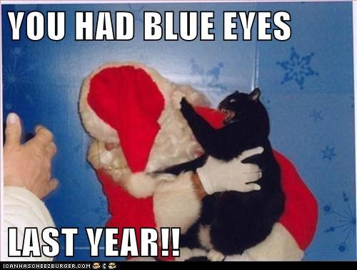 YOU HAD BLUE EYES  LAST YEAR!!