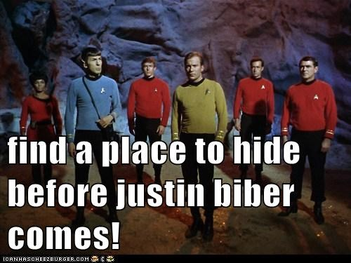 find a place to hide before justin biber comes!