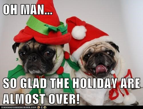 OH MAN...  SO GLAD THE HOLIDAY ARE ALMOST OVER!