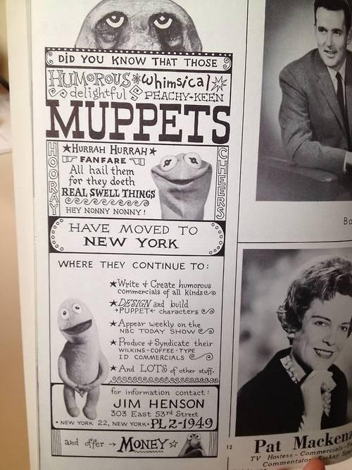 Ad,muppets,magazine,jim henson
