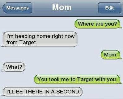text message,mom
