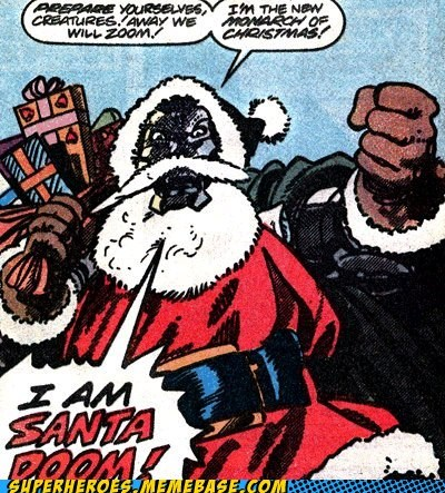 christmas,off the page,santa,dr doom