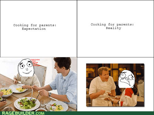 Cooking for parents