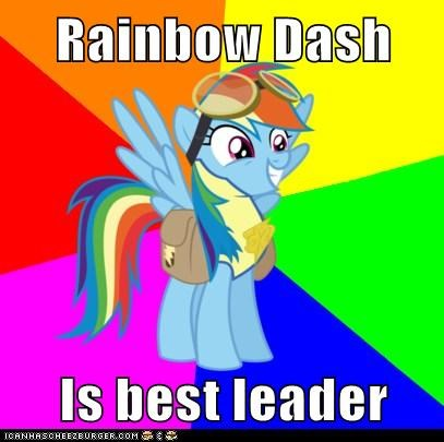 Rainbow Dash  Is best leader