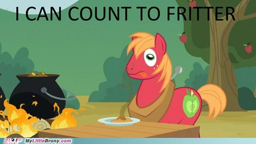 I can count to fritter