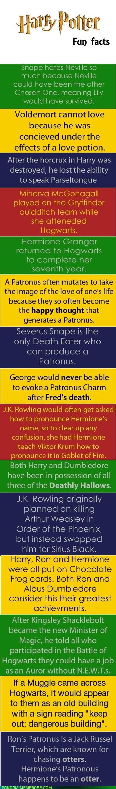 Harry Potter,movies,books,fun facts