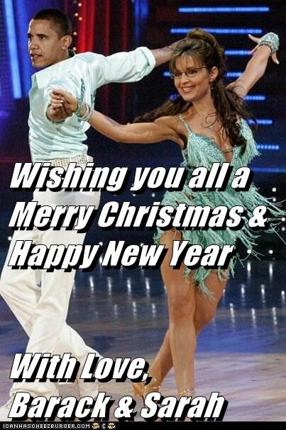 Wishing you all a Merry Christmas & Happy New Year  With Love,      Barack & Sarah