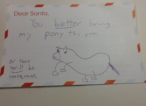 Dear Santa, You've Been Warned...