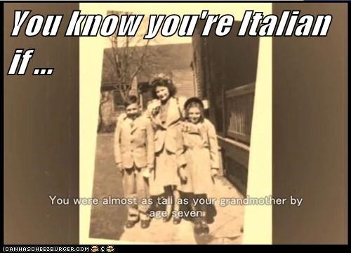 You know you're Italian if ...