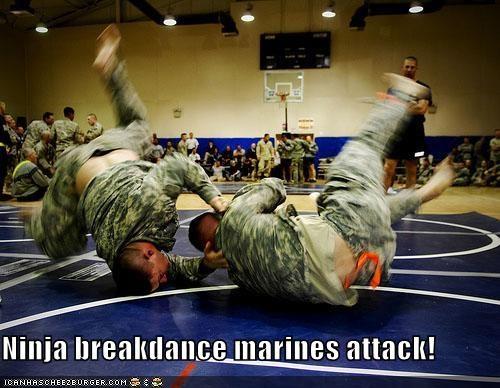 Ninja breakdance marines attack!