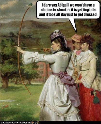 corset,no time,clothes,archery