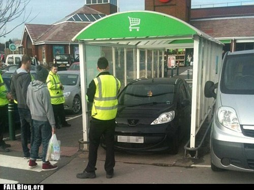 Supermarket Parking FAIL
