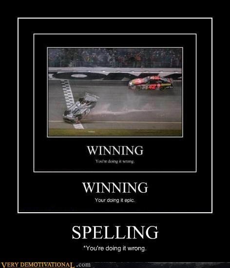 nascar,spelling,youre