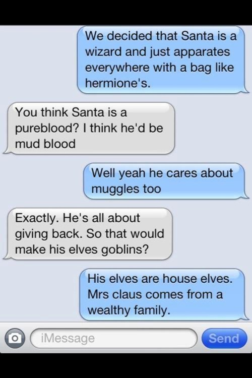 If Santa Came From Hogwarts
