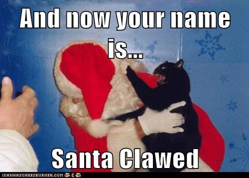 And now your name is...  Santa Clawed