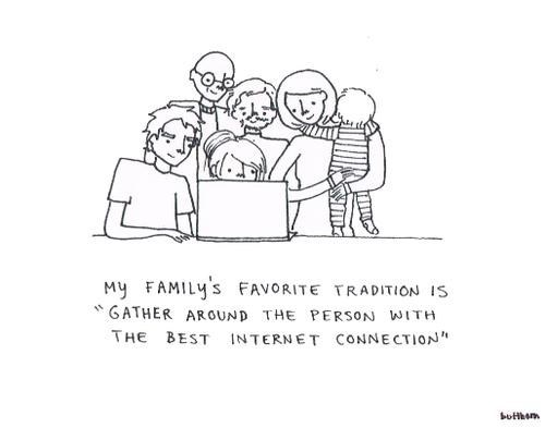 internet,family traditions
