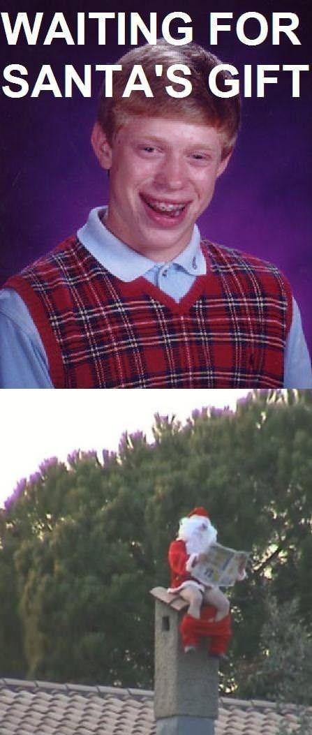 poop,bad luck brian,santa