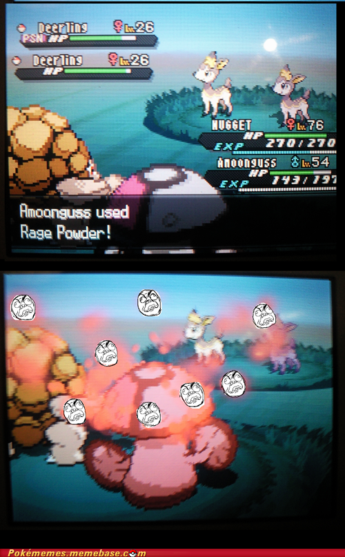 Battle,rage powder,gameplay,amoonguss