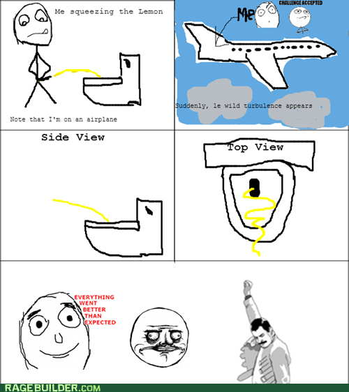Peeing on the Airplane