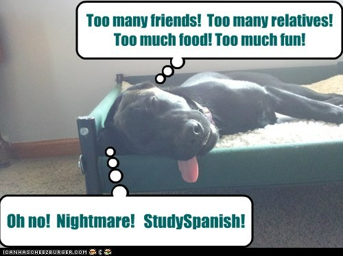 Oh no!  Nightmare!   StudySpanish!