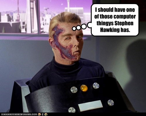 captain pike,voice,the menagerie,computer,Star Trek,stephen hawking