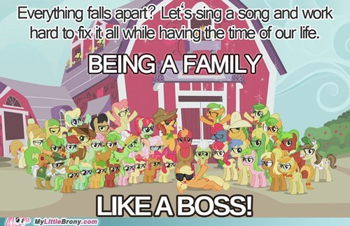 being a family,raise this barn,family