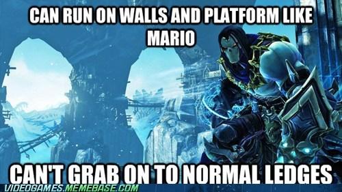 darksider II,ledges,platforming,video game logic
