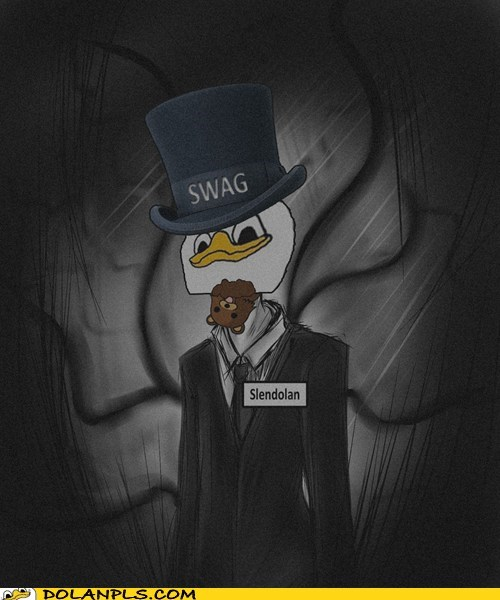swag,top hat,pedobear,slenderman