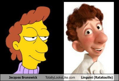 Jacques Brunswick Totally Looks Like Linguini (Ratatouille)