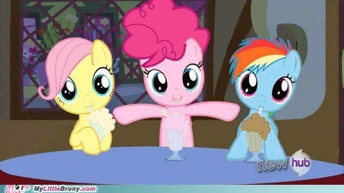 cute,pinkie pie,dying,fluttershy,rainbow dash